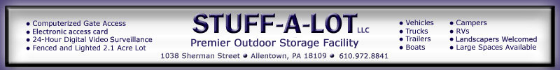 The Lehigh Valley's Premier Outdoor Storage Facility
